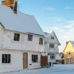 Lavenham Market Square in Winter